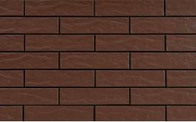 Фасадная клинкерная плитка Cerrad Brazowa Rustiko, размер 245 x 65 x 6,5 мм, толщина 6,5 мм.