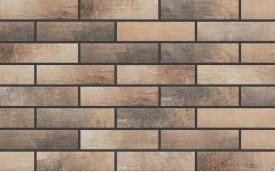 Фасадная клинкерная плитка Cerrad Loft Brick Masala, размер 245 x 65 x 8 мм, толщина 8 мм.
