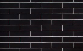 Фасадная клинкерная плитка Cerrad Nero Gladka, размер 245 x 65 x 6,5 мм, толщина 6,5 мм.