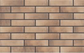 Фасадная клинкерная плитка Cerrad Retro Brick Masala, размер 245 x 65 x 8 мм, толщина 8 мм.