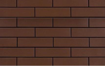 Фасадная клинкерная плитка Cerrad Brazowa Gladka, размер 245 x 65 x 6,5 мм, толщина 6,5 мм.