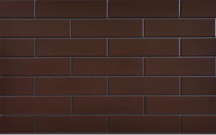Фасадная клинкерная плитка Cerrad Brazowa Szkliwiona, размер 245 x 65 x 6,5 мм, толщина 6,5 мм.