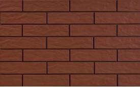 Фасадная клинкерная плитка Cerrad Burgund Rustico, размер 245 x 65 x 6,5 мм, толщина 6,5 мм.