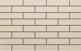 Фасадная клинкерная плитка Cerrad Krem Gladka, размер 245 x 65 x 6,5 мм, толщина 6,5 мм.